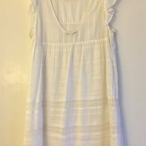 Rebecca Minkoff White Cotton Dress